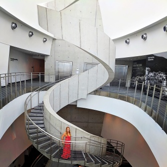 The Iconic Helical Staircase in the Foyer